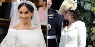 Kate Middleton wore a cream coloured coat for the ceremony allegedly upstaging the bride Photo C PA