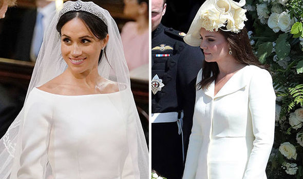 """Kate Middleton wore a """"cream coloured"""" coat for the ceremony, allegedly upstaging the bride"""
