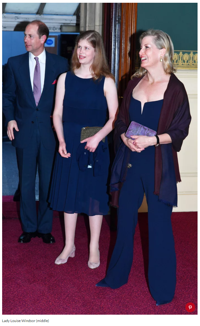 Lady Louise Windsor (middle) Photo (C) GETTY