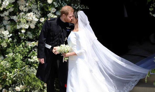 Meghan's dress was designed by Clare Waight Keller, French fashion house Givenchy's first female art Photo (C) GETTY