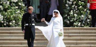 Meghan MArkle shocked the world with her wedding dress Photo C GETTY