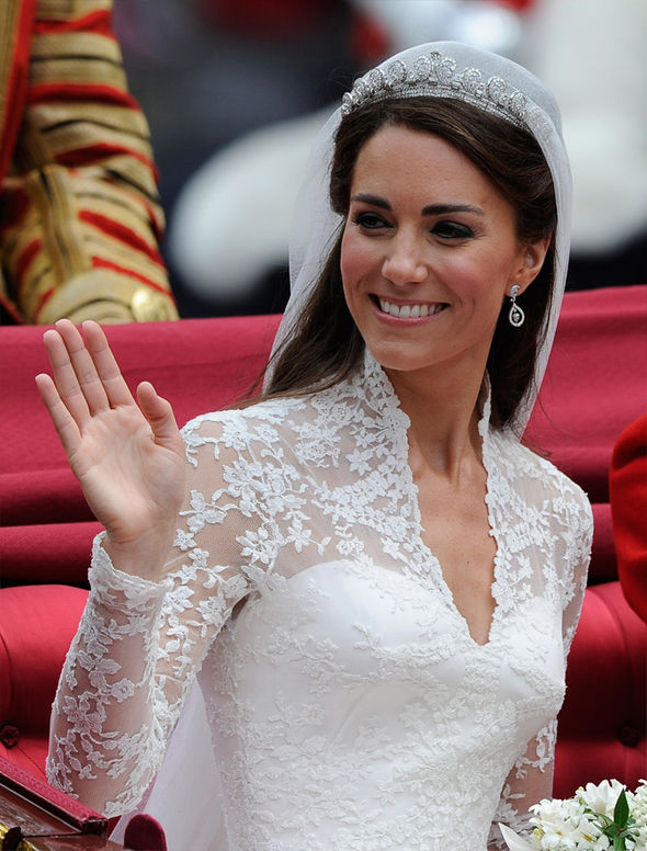 Meghan Markle Kate Middleton may wear the tiara and jewellery from her wedding day, expert claims Photo (C) GETTY