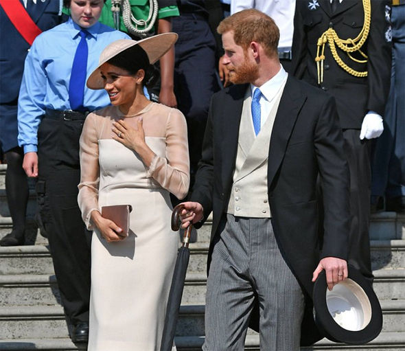 Meghan Markle and Prince Harry attend their first official event as the Duke and Duchess of Sussex Photo (C) GETTY