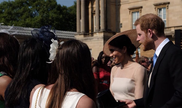 Meghan Markle and Prince Harry met with guests attending the celebrations Photo (C) Clearence House