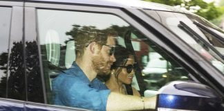 Meghan Markle and Prince Harry pictured for the first time since their Royal Wedding Photo (C) fJONATHAN BOOKMASTER