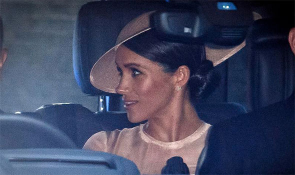 Meghan Markle and Prince Harry were seen leaving for Kensington Palace for the event Photo (C) Ben Cawdhral LNP