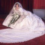 Meghan Markle v Princess Diana The train of Dianas wedding dress was 25 feet long Photo C GETTY