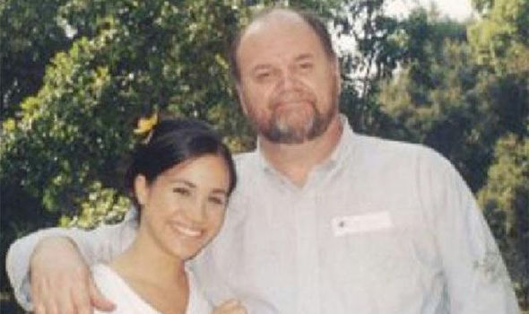 Meghan Markle with dad Thomas Photo (C) TIM STEWART