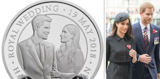 Meghan and Harry's Royal Wedding coin has been released by the Royal Mint Photo (C) GETTY MINT ROYAL