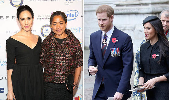 Meghan's mother Doria Ragland may walk her down the aisle following reports of her father's absence Photo (C) GETTY