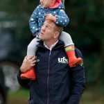 Mike Tindall with his daughter Mia who s rumoured to be a flower girl at the royal wedding Photo C GETTY