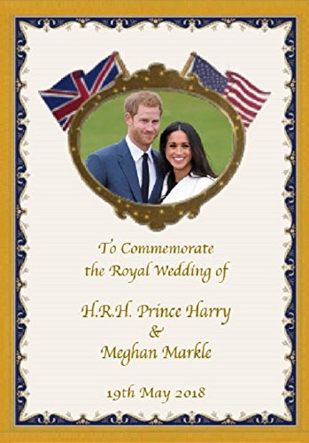 Prince Harry and Meghan Markle Royal Wedding Commemorative Fridge Magnet