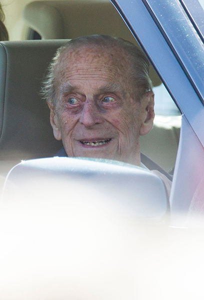 Prince Philip drove to the Windsor Horse Show Photo C GETTY