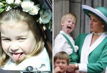 Princess Charlotte and Prince Harry both have a habit of pulling the stunt in front of cameras Photo (C) GETTY