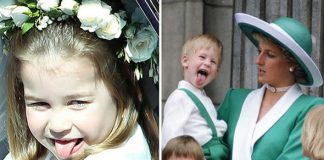 Princess Charlotte and Prince Harry both have a habit of pulling the stunt in front of cameras Photo C GETTY