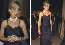 Princess Diana at the 1996 Met Gala. Photo (C) GETT