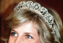 Princess Diana wearing the Spencer Tiara on her wedding day Photo (C) GETTY