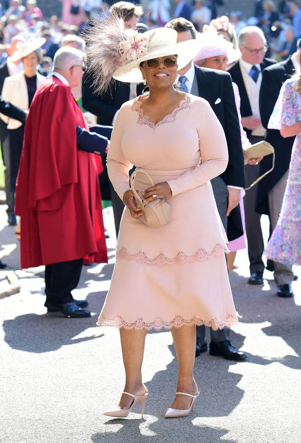 Royal Wedding 2018 Oprah Winfrey completed her look with a vintage Philip Treacy hat Photo (C) HAT