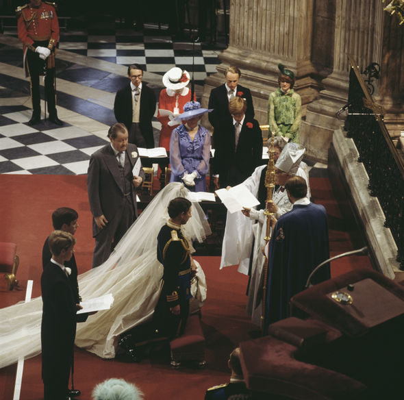 Royal Wedding Lady Jane attended Princess Diana and Prince Charles' 1981 wedding Photo (C) GETTY IMAGES
