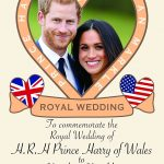 Royal Wedding memorabilia Fridge Magnet Prince Harry and Meghan Markle 5.5x4.5 Inch