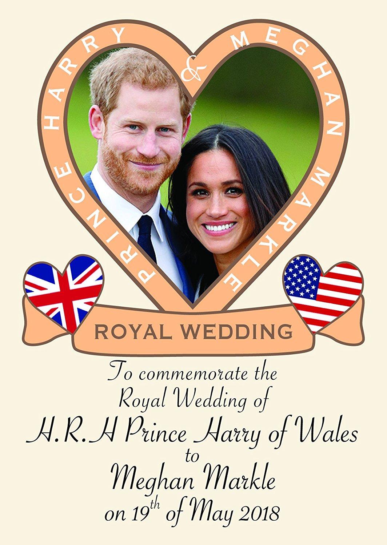 Prince Harry and Meghan Markle Royal Wedding Commemorative Fridge Magnet