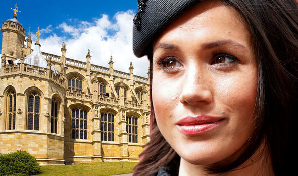 Royal wedding Meghan Markle will face a challenging sight as she arrives at St. George's Chapel Photo (C) GETTY