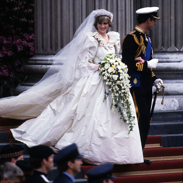 Royal wedding Princess Diana had two bouquets made for her wedding to Prince Charles Photo (C) GETTY