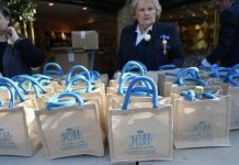 Royal wedding gift bags Gift bags were handed out to members of the public invited to the day Photo (C) PA