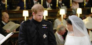 Royal wedding live Meghan and Harry exchange rings Photo (C) GETTY
