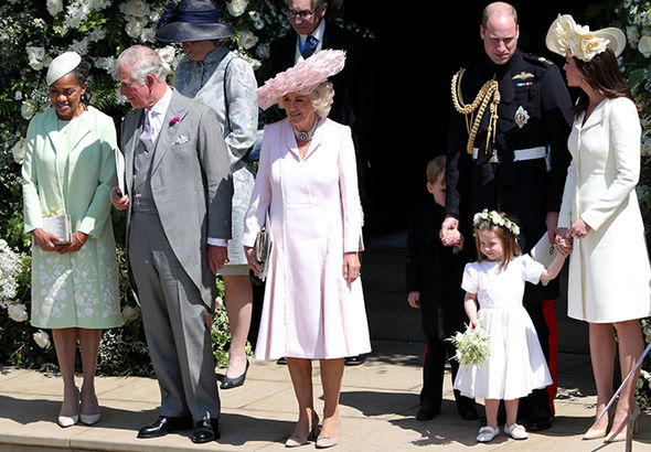 Royal wedding live Members of the royal family leave the church Photo (C) GETTY