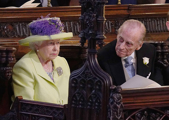 Royal wedding live The Queen and Philip enjoy their grandson's wedding ceremony Photo (C) GETTY
