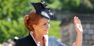 Sarah Ferguson Fergie waved to crowds as she made her royal wedding comeback Photo (C) GETTY