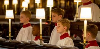 St George's Chapel choirboys rehearse ahead of royal wedding see the adorable pictures Photo C GETTY