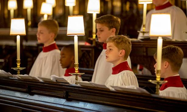 St George's Chapel choirboys rehearse ahead of royal wedding see the adorable pictures Photo (C) GETTY
