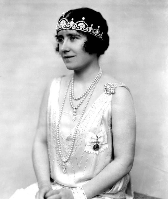 The Lotus Flower Tiara was worn by the Queen Mother, Elizabeth Bowes-Lyon in 1925 Photo (C) GETTY
