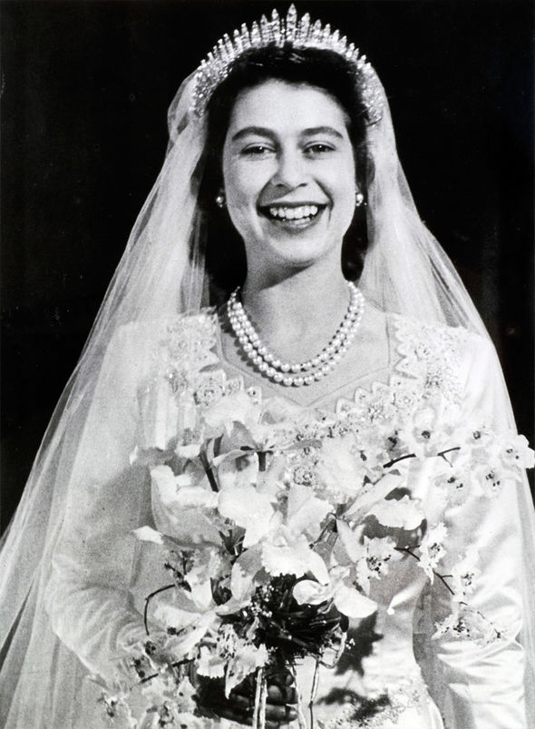 The Queen Her Majesty lost her bouquet so now royal brides always have two Photo (C) GETTY