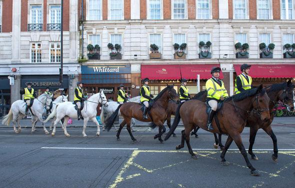 The Royal Wedding rehearsal was spotted near Buckingham Palace mews Photo (C) FLYNET, SPLASH NEWS