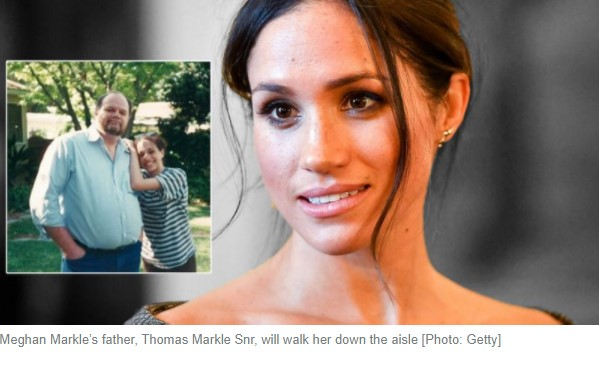 Thomas J Markle Snr with Meghan Markle [Photo Splash, Getty]