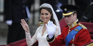 When Kate Middleton married Prince William pictured back in April 2011 the wedding dress cost a phenomenal £250000