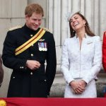 When The Duchess of Cambridge could not stop laughing at Prince Harry during The Queens birthday Parade Photo C GETTY