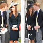 While Harry usually instigates the LOLs, Catherine's capable of serving them up too! She made Harry blush during a church service back in 2008. Oh, to be a fly on the wall Photo (C) GETTY