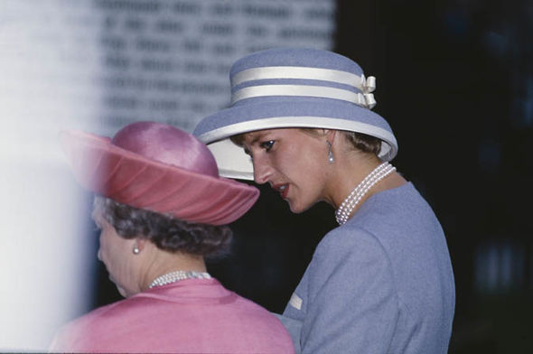 """This is the sort of treatment Diana never had She was never shown the ropes Photo (C) GETTY"