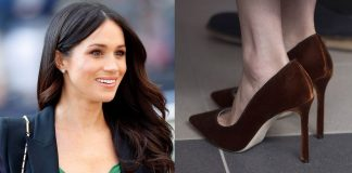01 According to fashion expert Harriet Davey its likely that Meghan selects the bigger footwear for an important reason Photo C GETTY IMAGES