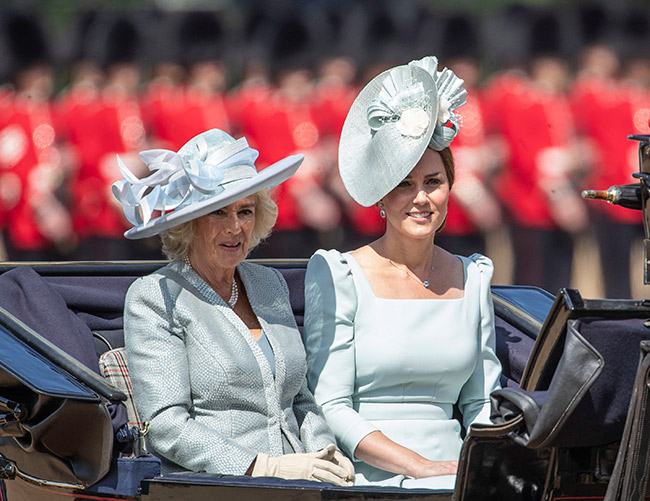 Kate Middleton looks gorgeous in pastel blue at Trooping the Colour Photo C GETTY