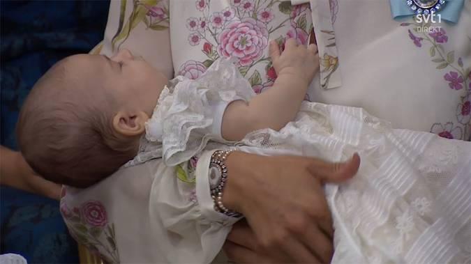 Princess Madeleine of Sweden's baby daughter Princess Adrienne is christened Photo (C) STV1