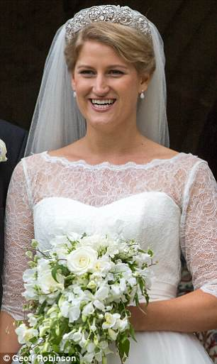 Celia, cousin of Prince William and Harry, was the picture of happiness on her wedding day