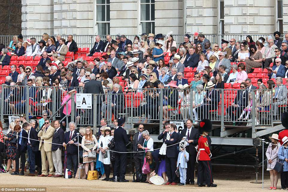 Queen Elizabeth, Prince Charles, Prince William, Kate Middleton, Prince George, Princess Charlotte Trooping Colour 2018