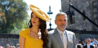 Amal and husband George Clooney were A list guests at Prince Harry and Meghan Markle's wedding on May 19. Source Getty