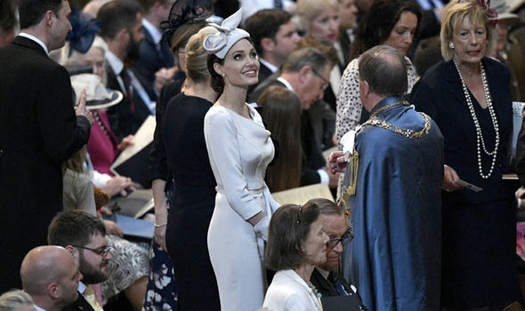 Angelina Jolie at the St Paul's Cathedral service Photo (C) EPA