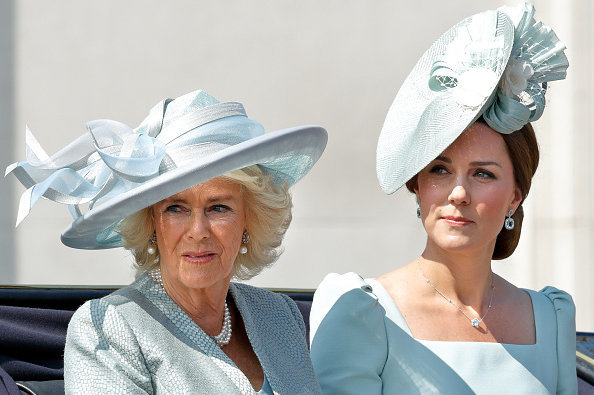 Camilla and Kate Middleton travel together during Trooping The Colour on June 9 Photo (C) GETTY